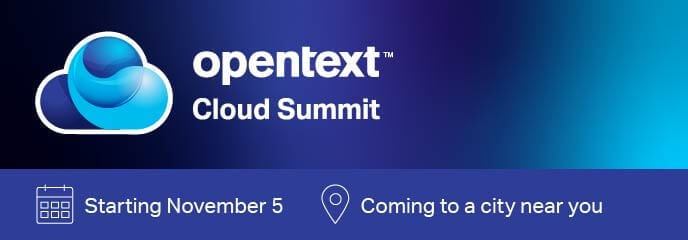 OpenText Cloud Summit promotional banner